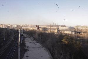 Вид справа от моста на окрестности Мамаева Кургана