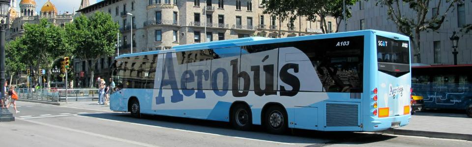 Aerobus из аэропорта до центра Барселоны