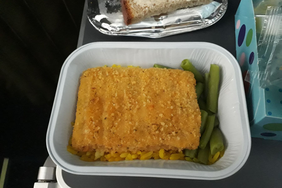 Горячее питание на рейсе в Иркутск, С7
