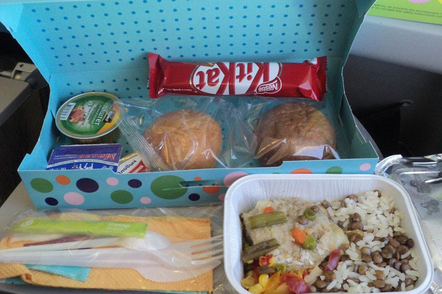 Питание С7 на рейсе Хабаровск Новосибирск.