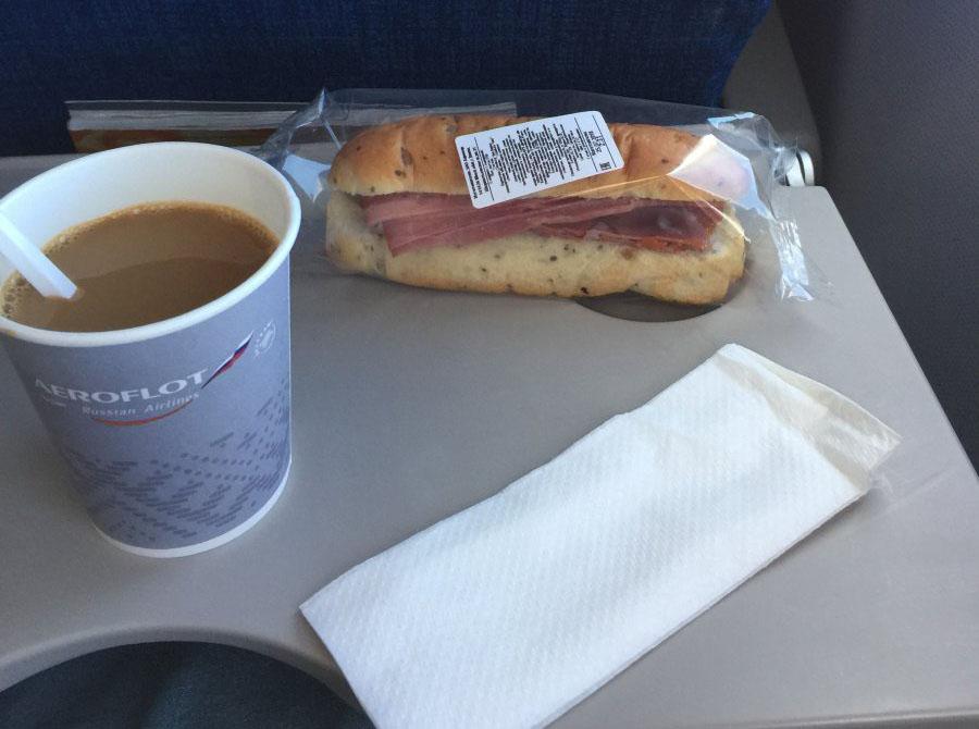 питание на рейсе Москва Прага у Аэрофлота