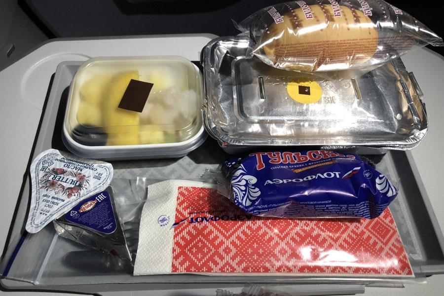 Питание на рейсе Москва Астана у Аэрофлота