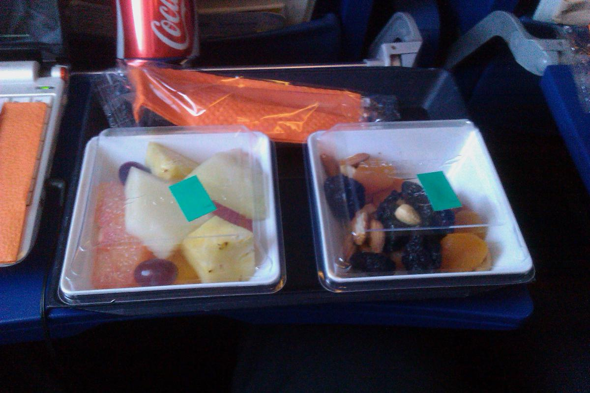 Фруктовое питание в Аэрофлоте