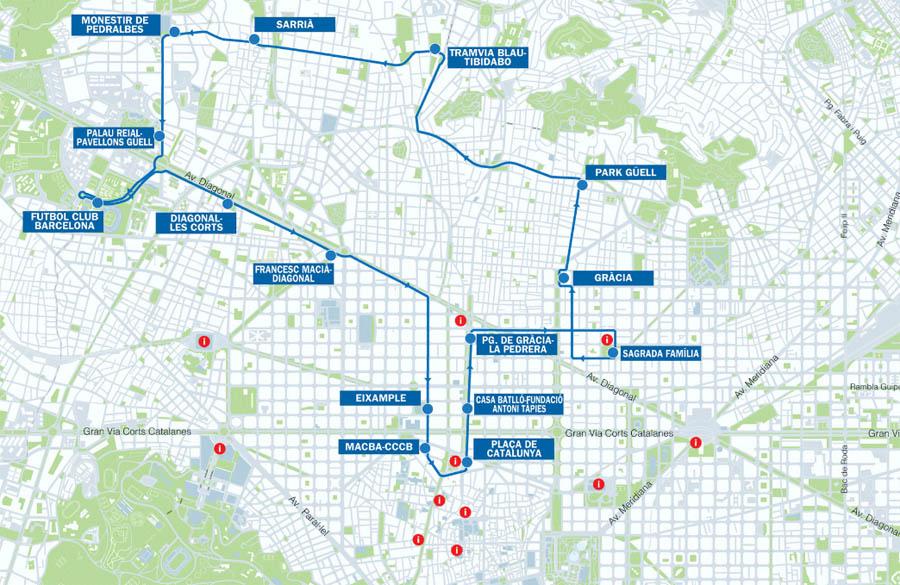 Новая карта голубого маршрута Бас Туристик
