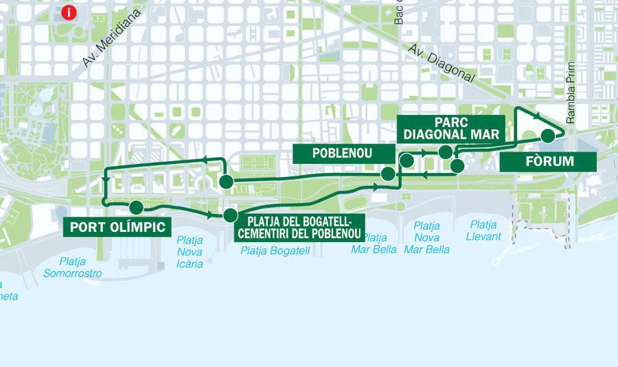 Зеленый маршрут Бас Туристик в Барселоне