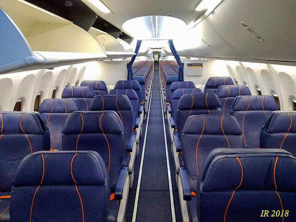 Салон бизнес класса Боинг 737-800 Аэрофлота