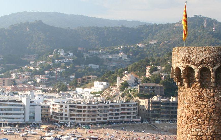 Вид на курорт Тосса де Мар