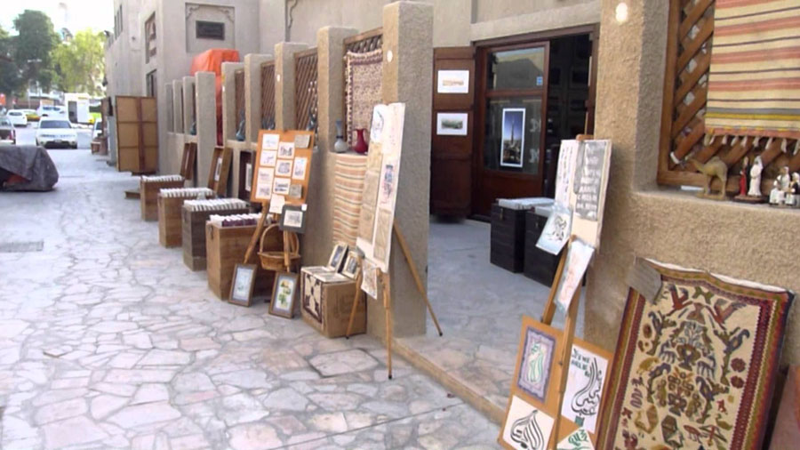 Галерея в квартале Бастакия в Дубай