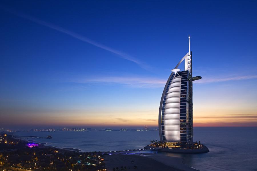 Burj al Arab вид с берега