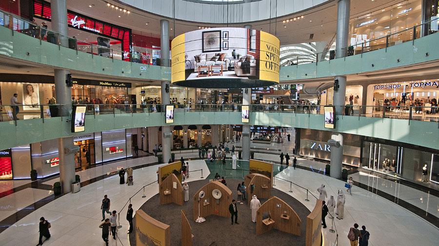 Торговые ряды в Дубай Молл