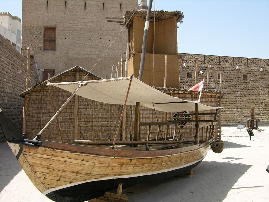 Двор музея Дубай
