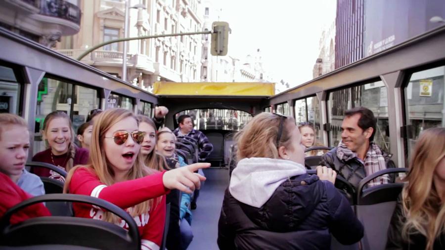 Второй этаж автобуса Мадрид Сити Тур