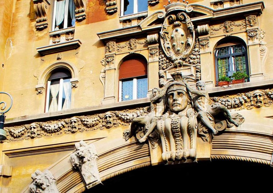 Архитектурный квартал в Риме