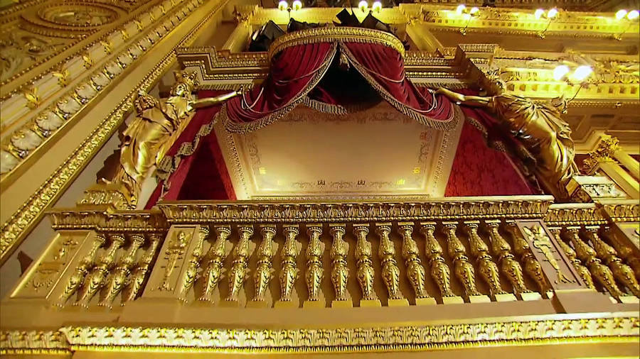 Интерьер пражского национального театра