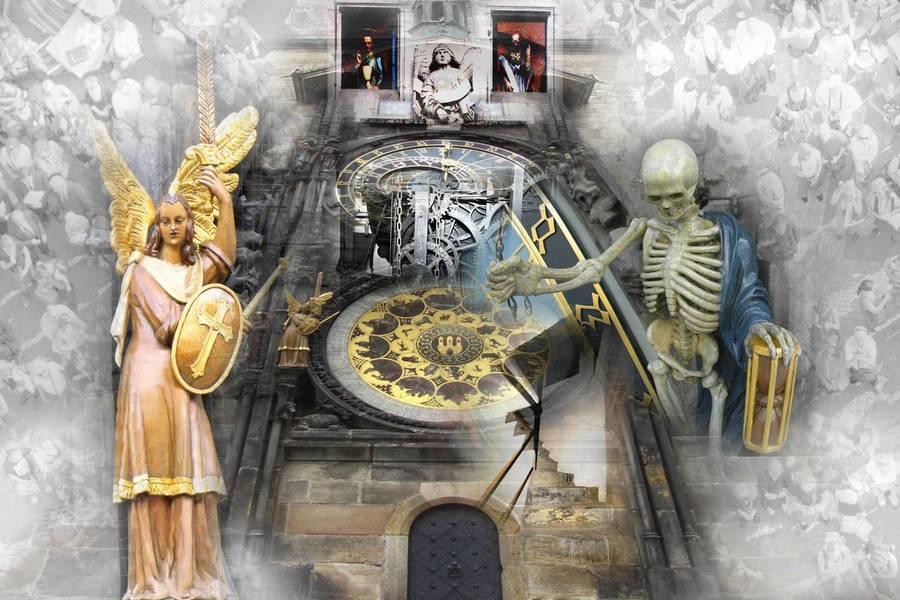 Астрономические часы на площади в Праге