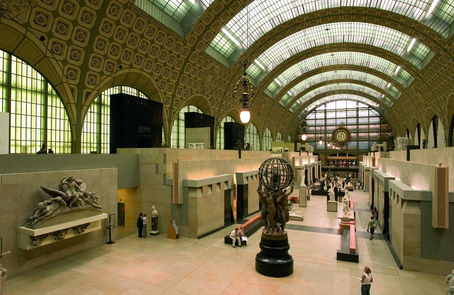 Интерьер музея Орсе в Париже