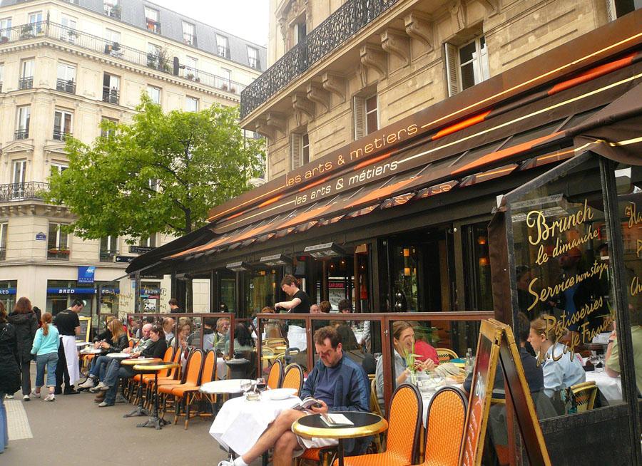 Улица квартала Маре в Париже
