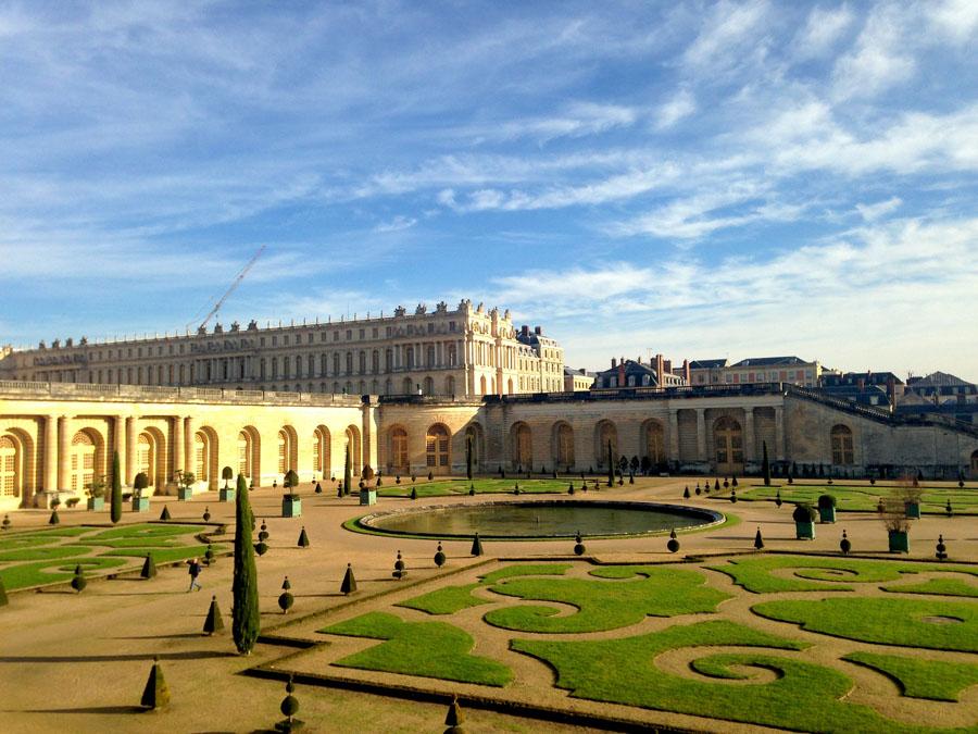 Вид на Версальский дворец