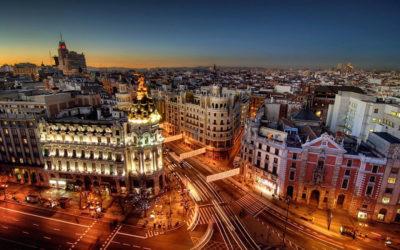 Вид на ночную Барселону
