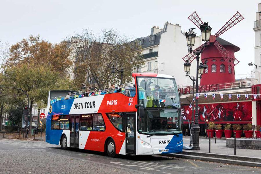 Новые автобусы Open Tour в Париже