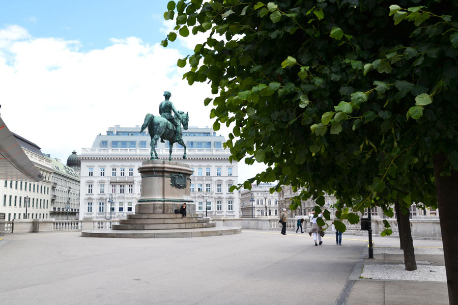 Площадь Альбертина в Вене