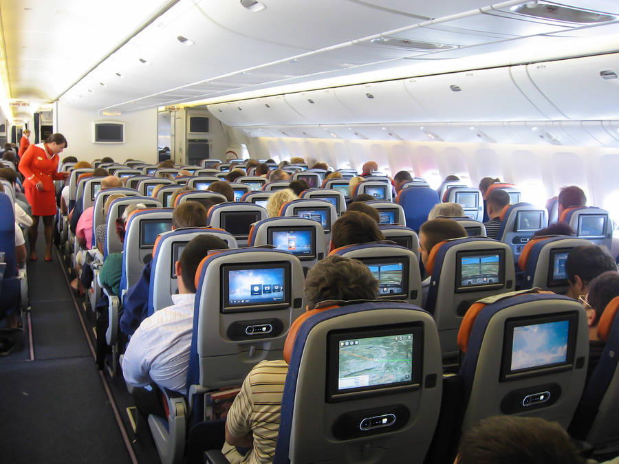 Эконом класс в боинге 777-300 Аэрофлота