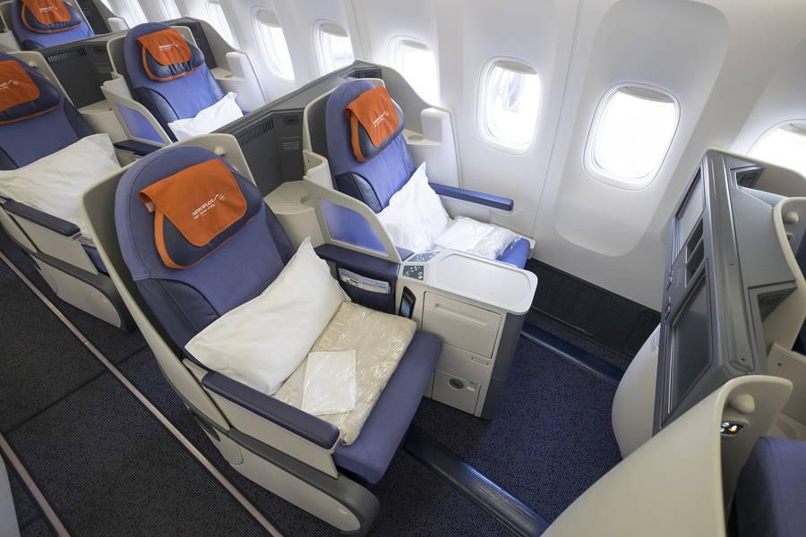 Бизнес класс в Боинг 777-300 Аэрофлота
