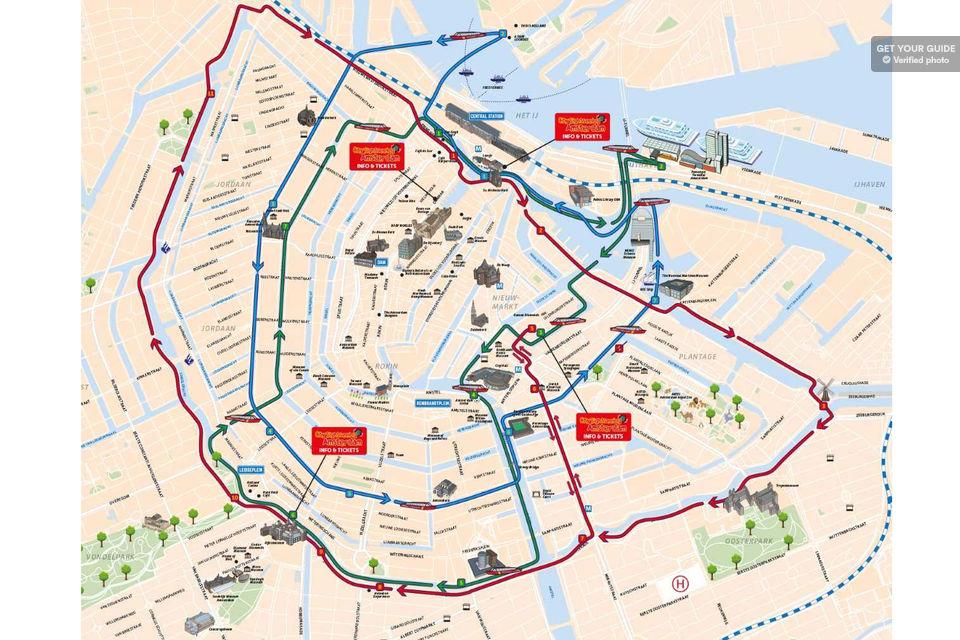 Водные маршруты Hop On Hop Off В Амстердаме