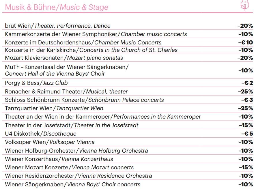 Скидки на концерты в Вене