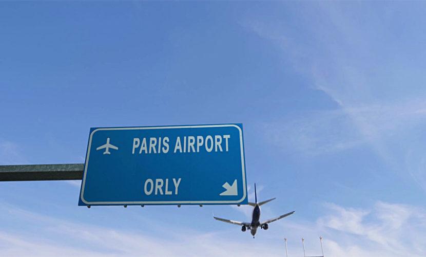 Указатель на аэропорт Орли