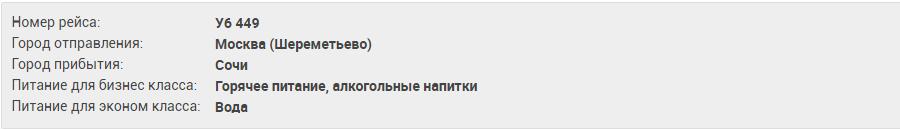 Москва Сочи U6