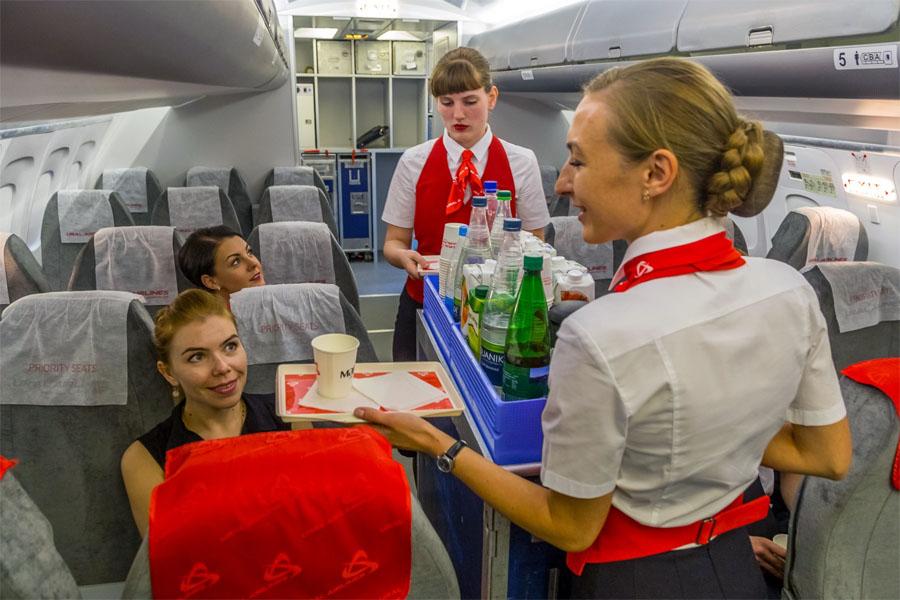 Питание на Уральских Авиалиниях