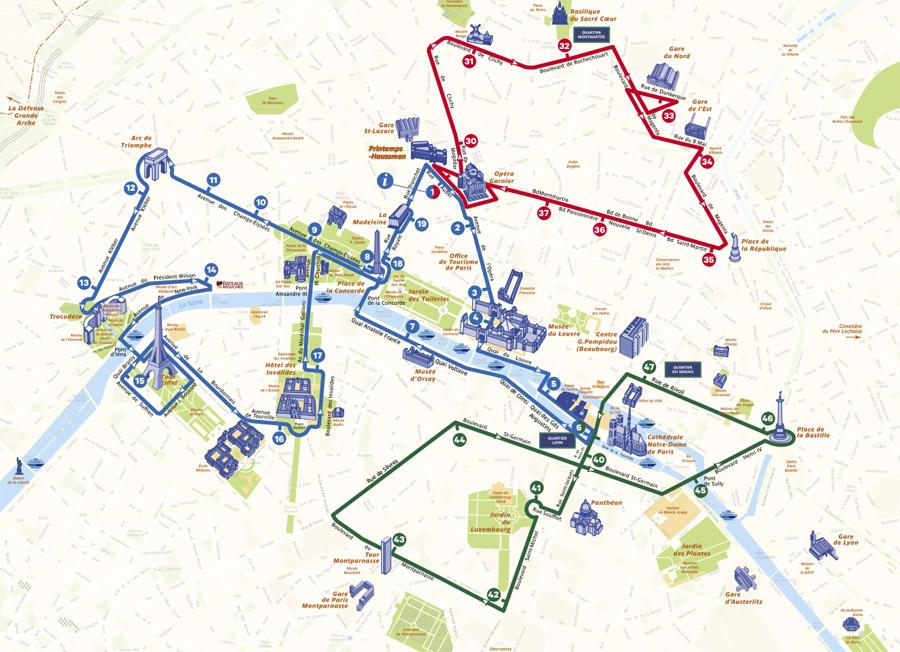 Все маршруты Опен Тур Париж