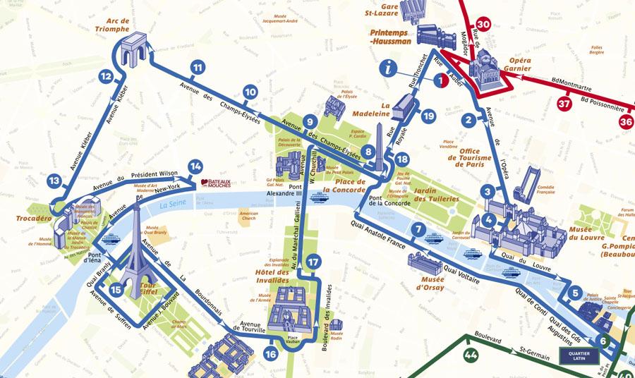 Синяя линия Опен Тур Париж