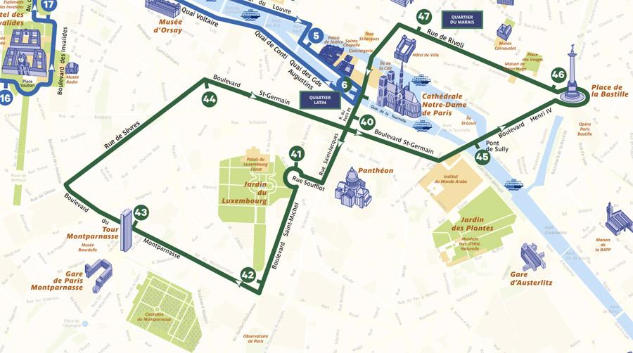 Зеленая линия Опен Тур Париж