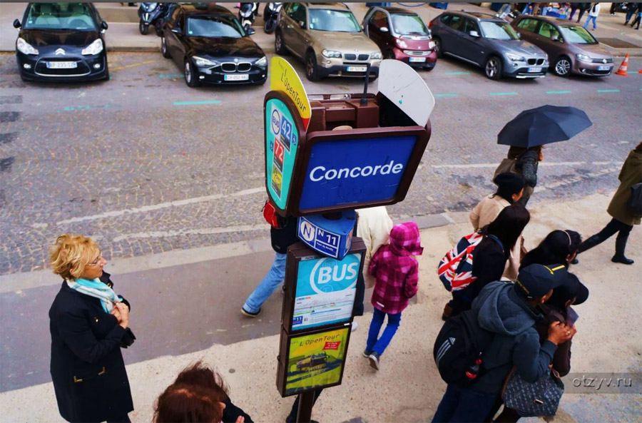 Остановки Опен Тур в Париже