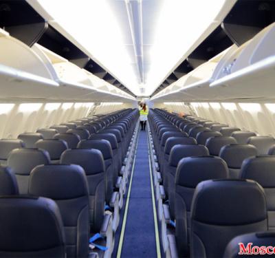 Салон самолета в Победе