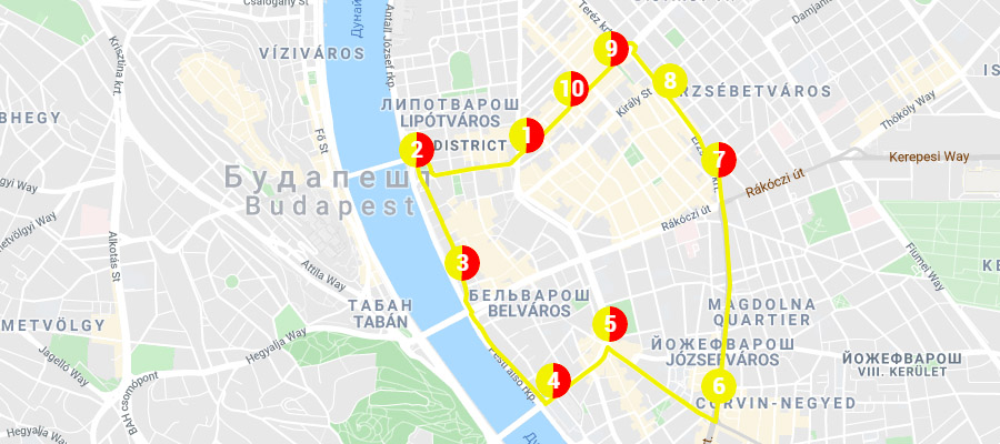 Желтый маршрут автобуса