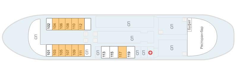 Схема главной палубы