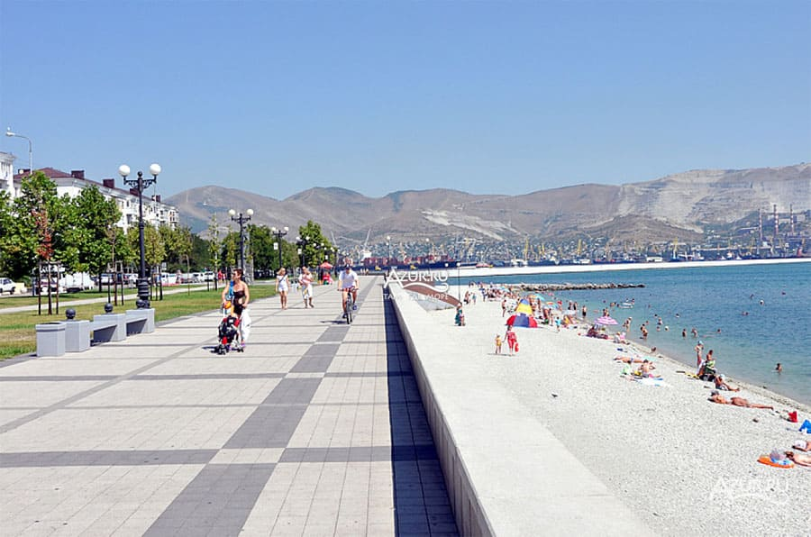 Пляж на Серебрякова