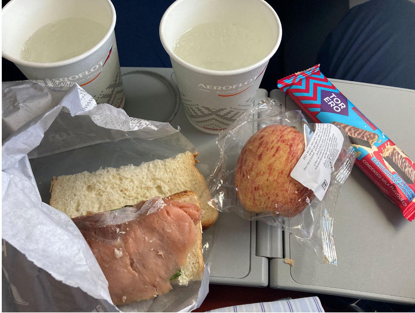Еда на рейсе Шереметьево Самара Аэрофлот