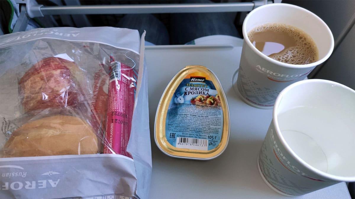 Еда в экономе Аэрофлота
