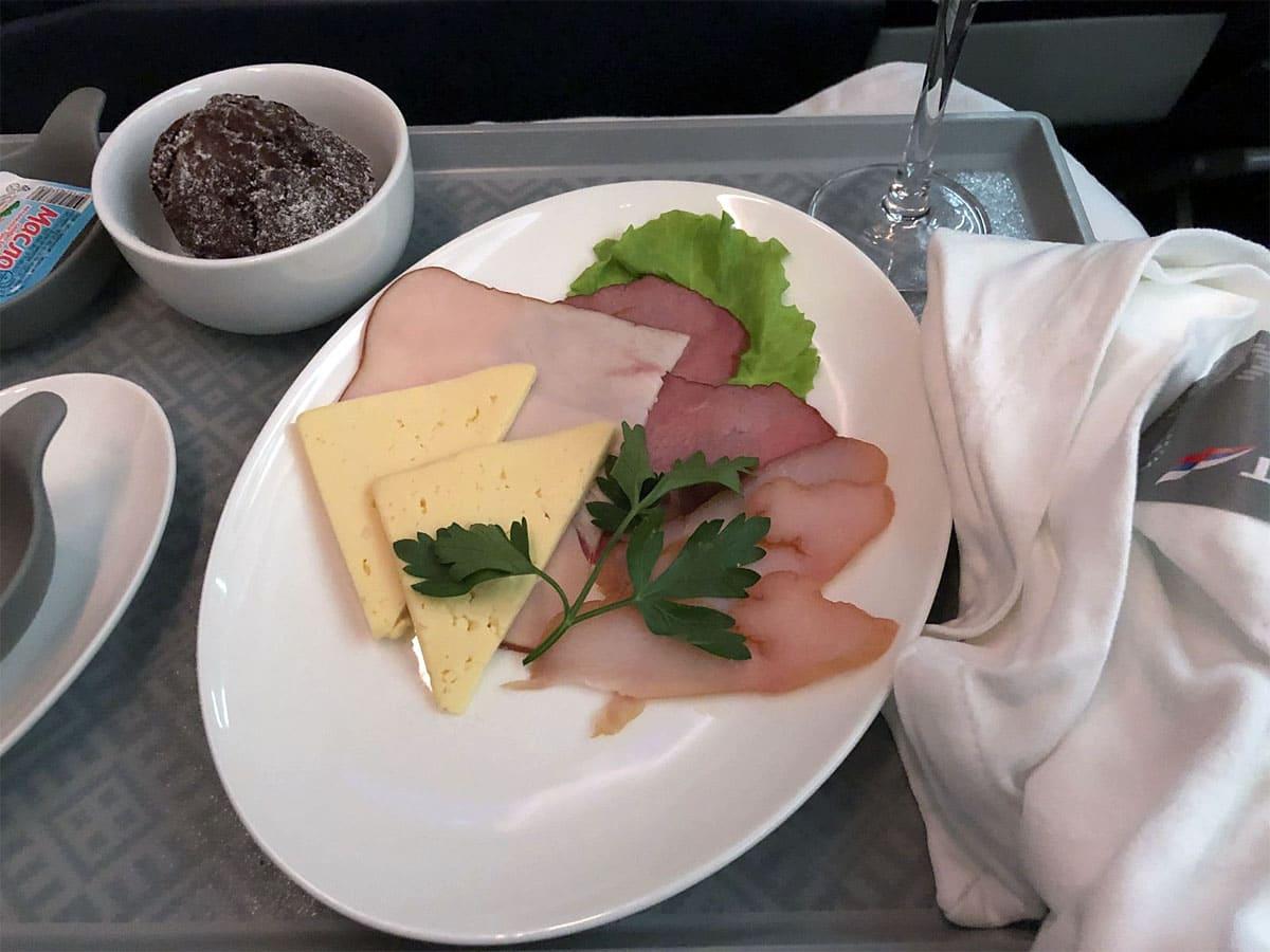 Бизнес класс питание аэрофлот